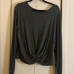 Plus Size Knotted Front Crop top